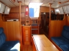 Saloon.  Galley to left, Nav Table to right